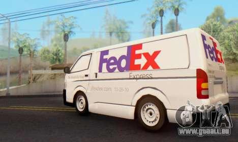 Toyota Hiace FedEx Cargo Van 2006 für GTA San Andreas linke Ansicht