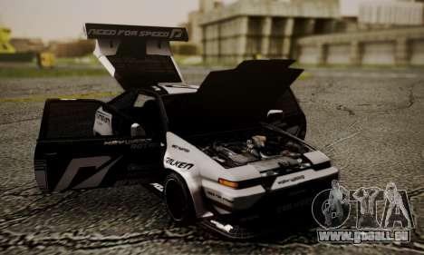 Toyota Corolla AE86 SHIFT2 pour GTA San Andreas vue de droite