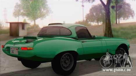 Jaguar E-Type pour GTA San Andreas laissé vue