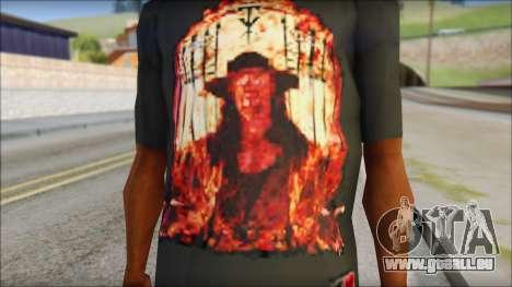 Undertaker T-Shirt pour GTA San Andreas troisième écran