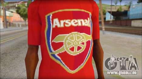 Arsenal T-Shirt für GTA San Andreas dritten Screenshot