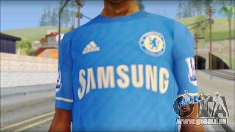 Chelsea FC 12-13 Home Jersey pour GTA San Andreas troisième écran