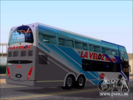 Metalsur Starbus DP 1 6x2 - La Veloz del Norte pour GTA San Andreas vue de droite