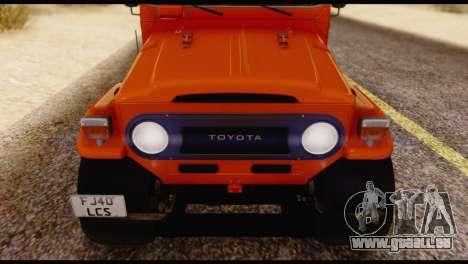 Toyota Land Cruiser (FJ40) 1978 pour GTA San Andreas vue de côté