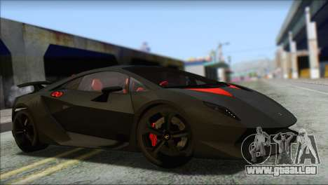 Lamborghini Sesto Elemento Concept 2010 für GTA San Andreas obere Ansicht