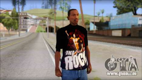 WWE The Rock T-Shirt pour GTA San Andreas