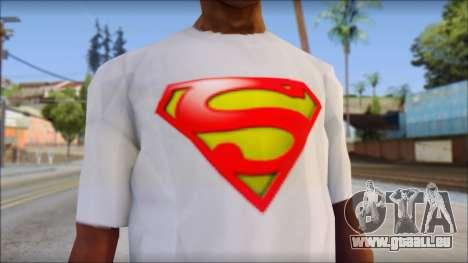 Superman T-Shirt für GTA San Andreas dritten Screenshot