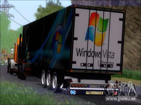 Прицеп Windows Vista Ultimate pour GTA San Andreas vue de dessous