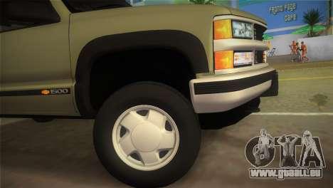 Chevrolet Suburban 1996 GMT400 für GTA Vice City zurück linke Ansicht