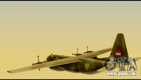C-130 Hercules Indonesia Air Force für GTA San Andreas linke Ansicht