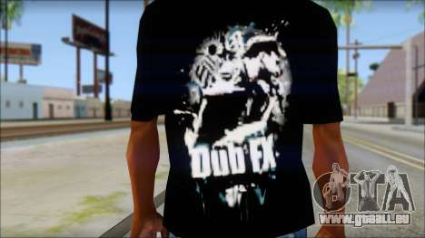 Dub Fx Fan T-Shirt v1 für GTA San Andreas dritten Screenshot