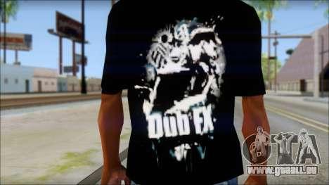 Dub Fx Fan T-Shirt v1 pour GTA San Andreas troisième écran