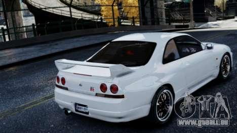 Nissan Skyline R33 1995 pour GTA 4 Vue arrière