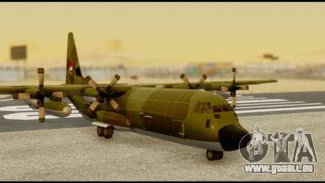 C-130 Hercules Indonesia Air Force für GTA San Andreas zurück linke Ansicht