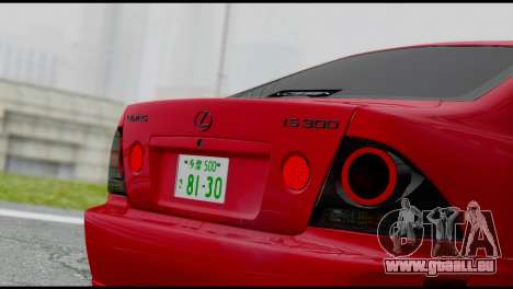 Lexus IS300 Vossen pour GTA San Andreas vue de droite