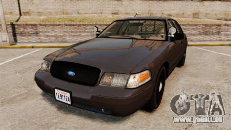 Ford Crown Victoria Sheriff [ELS] Unmarked pour GTA 4