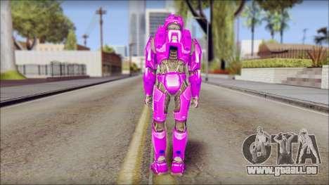 Masterchief Purple from Halo pour GTA San Andreas deuxième écran