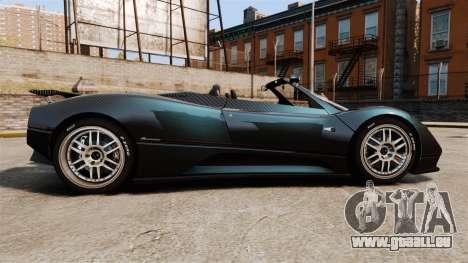 Pagani Zonda C12S Roadster 2001 v1.1 PJ3 für GTA 4 linke Ansicht