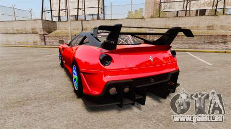 Ferrari F599 XX Evoluzione Simple CarbonFiber für GTA 4 hinten links Ansicht