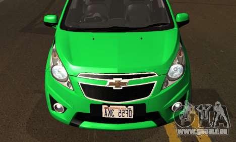 Chevrolet Spark 2011 pour GTA San Andreas vue de côté