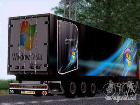 Прицеп Windows Vista Ultimate pour GTA San Andreas vue de droite