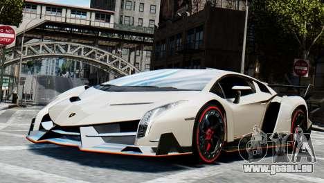 Lamborghini Veneno 2013 pour GTA 4 Vue arrière de la gauche