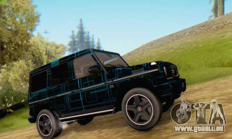 Mercedes-Benz G65 Black Square Pattern für GTA San Andreas linke Ansicht