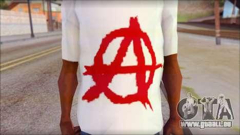 Anarchy T-Shirt v3 für GTA San Andreas dritten Screenshot