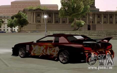 Travaux de peinture pour Yakuza Élégie pour GTA San Andreas sur la vue arrière gauche