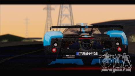 Pagani Zonda UNO für GTA San Andreas zurück linke Ansicht