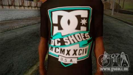 DC Shoes USA T-Shirt für GTA San Andreas dritten Screenshot