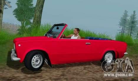 VAZ 2101 Convertible pour GTA San Andreas laissé vue