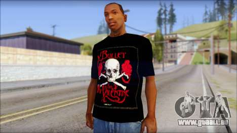 Bullet for my Valentine Fan T-Shirt pour GTA San Andreas