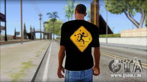 Running With Scissors T-Shirt pour GTA San Andreas deuxième écran
