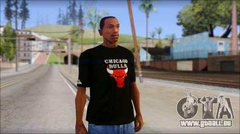 Chicago Bulls Black T-Shirt für GTA San Andreas
