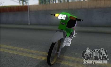 Kawasaki Kaze R pour GTA San Andreas sur la vue arrière gauche