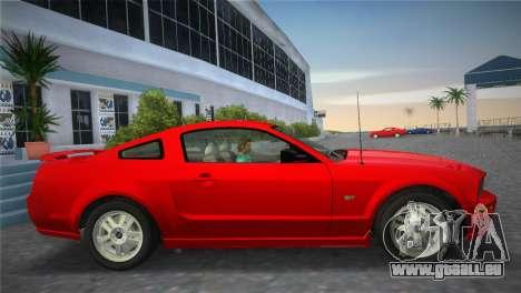 Ford Mustang GT 2005 für GTA Vice City Rückansicht