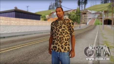 Tiger Skin T-Shirt Mod pour GTA San Andreas