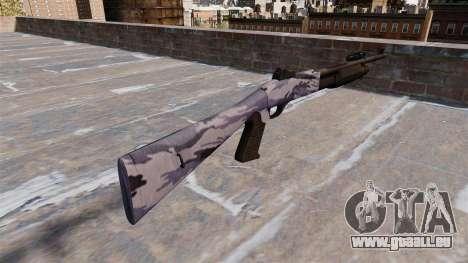 Ружье Benelli M3 Super 90 tigre bleu pour GTA 4 secondes d'écran