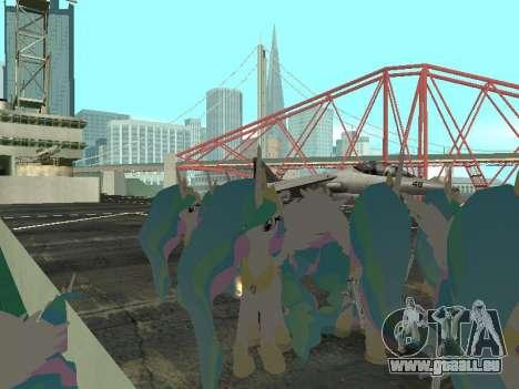 Princess Celestia pour GTA San Andreas troisième écran