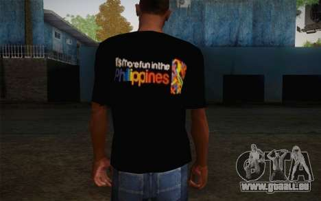 Its More Fun In Philippine T-Shirt pour GTA San Andreas deuxième écran