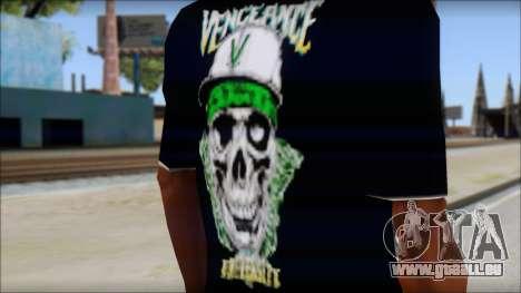 A7X New T-Shirt pour GTA San Andreas troisième écran
