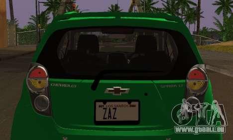 Chevrolet Spark 2011 für GTA San Andreas obere Ansicht