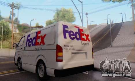 Toyota Hiace FedEx Cargo Van 2006 für GTA San Andreas rechten Ansicht