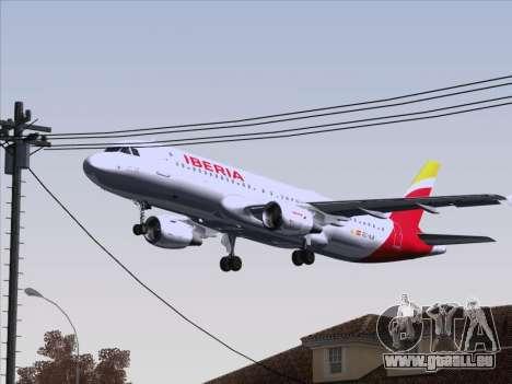 Airbus A320-214 Iberia für GTA San Andreas obere Ansicht