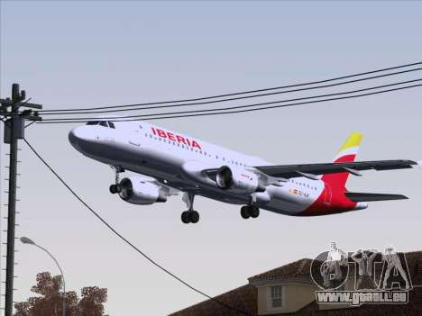 Airbus A320-214 Iberia pour GTA San Andreas vue de dessus