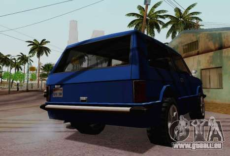 Huntley Coupe für GTA San Andreas Innenansicht