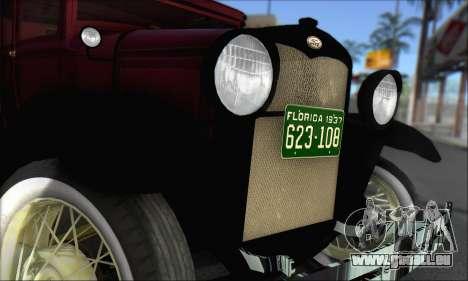Ford A 1930 für GTA San Andreas rechten Ansicht