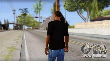 Chicago Bulls Black T-Shirt pour GTA San Andreas deuxième écran