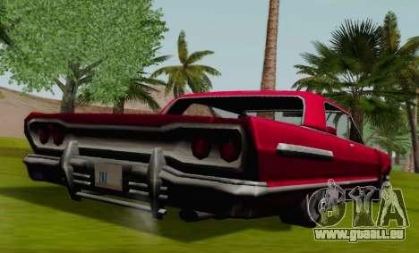 Savanna Coupe pour GTA San Andreas sur la vue arrière gauche